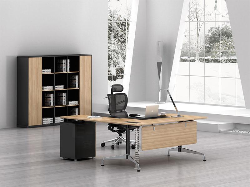 单人办公桌-卡位办公桌-板式家具品牌-总裁桌