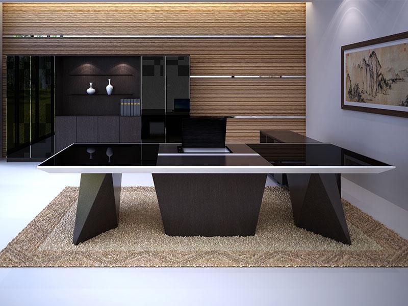 宜洋办公家具现代实木老板办公桌