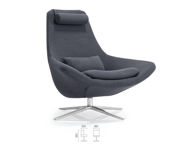 会谈独坐沙发-办公休闲沙发直销-沙发凳-会谈布艺沙发