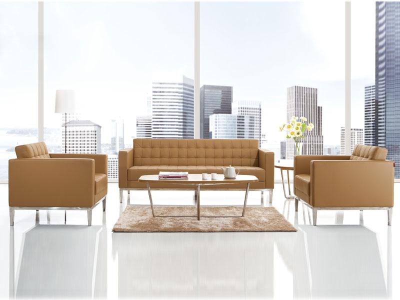 办公皮沙发-定制办公沙发-商务会谈沙发-布艺沙发图片
