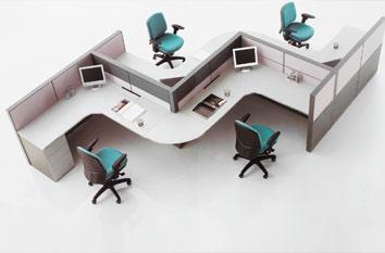 职员屏风工作位-上海职员工作位厂家-定制屏风职员桌