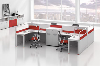 屏风工作位-屏风办公桌-活动屏风-办公屏风-办公室屏风