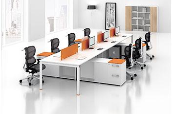 屏风办公桌-定制屏风职员桌-办公屏风桌-屏风电脑桌