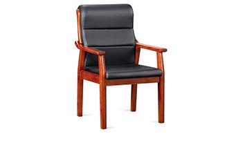 皮椅-带写字板会议椅-定做办公椅-接待椅