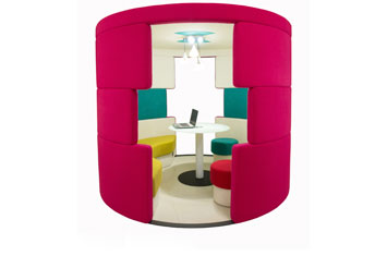 创意办公沙发-员工沙发-办公布艺沙发