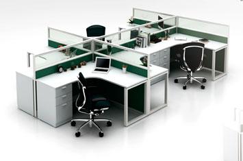 屏风桌-屏风办公桌-屏风工作位-活动屏风-办公室屏风