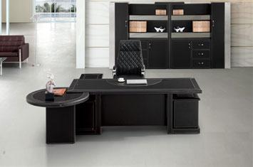 老板皮质桌-皮质班台-皮质班台办公桌