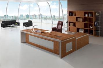 办公桌-定制皮质办公桌-定制老板桌-皮质大班台