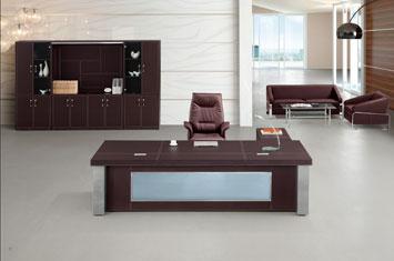 办公桌皮质桌-老板皮质桌-办公老板桌