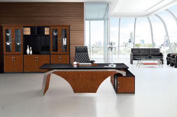班台-办公皮质大班台-时尚办公桌-高档办公桌