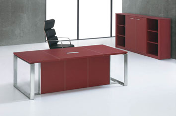 班台-办公桌图片-皮质办公家具-皮质老板桌