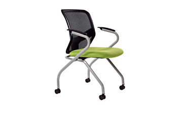 滑轮培训椅-网布培训椅-定做培训椅