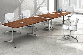 会议桌厂家-板式办公会议桌-会议桌摆放