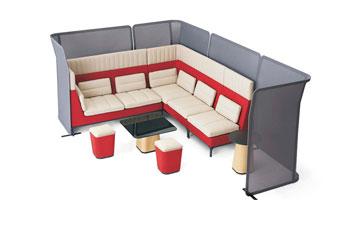 布艺沙发组合-办公家具直销-创意职员沙发-办公沙发设计