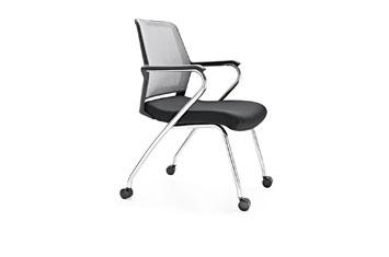 折叠培训椅-公司办公椅-滑轮培训椅