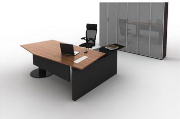 总裁办公桌-上海大班台-实木老板桌