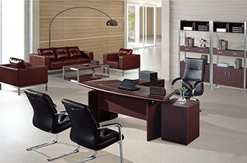 办公桌-老板桌-皮质办公用品-定制皮质办公桌厂家