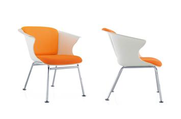会议椅-上海会议椅-带写字板会议椅-网布椅