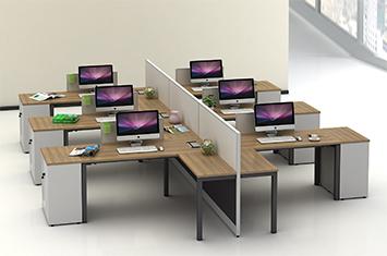 屏风工作位-屏风办公桌-屏风隔断-屏风图片-办公室屏风
