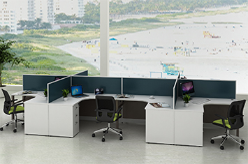 屏风办公桌-职员工作位-屏风工作位-办公屏风-屏风隔断