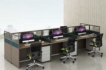 屏风办公桌厂家-定制屏风工作位-屏风位办公桌