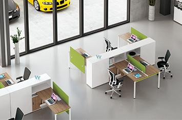 电脑桌-电脑办公桌-定制办公职员桌-屏风办公桌厂
