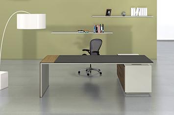 办公大班台-实木办公桌-实木老板桌