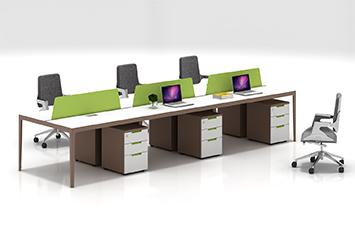屏风办公桌-职员桌尺寸设计-办公职员桌-职员桌