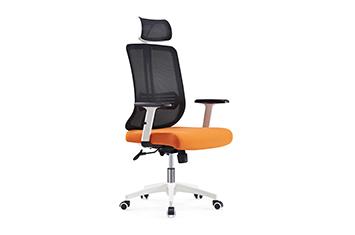 网布电脑椅-职员网椅-网布滑轮椅-布艺办公椅