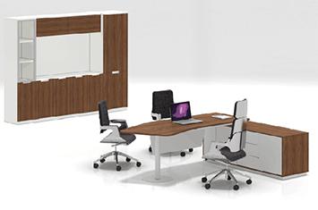 组合办公桌-工作办公桌-书柜电脑桌-板式办公桌