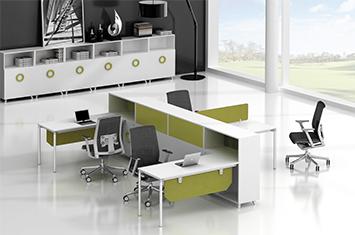 屏风办公桌-屏风式办公桌-定做职员桌-屏风工作位厂家