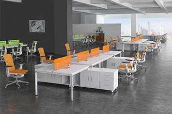 屏风式办公桌-办公桌二人组-职员桌-温州办公桌