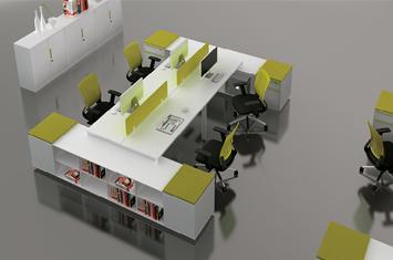 办公桌隔断-职员桌屏风-办公桌厂家