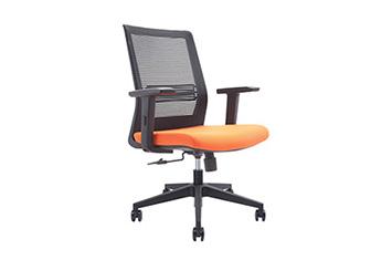 人体工学电脑椅-旋转员工椅-网布滑轮椅-职员椅