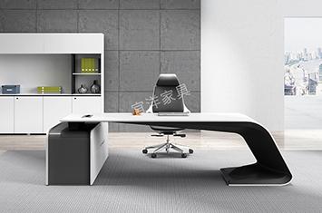 办公桌-烤漆面板-办公室办公桌-实木家具-办公班台