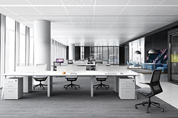 员工桌-办公组合桌-屏风式办公桌-定制办公桌厂家