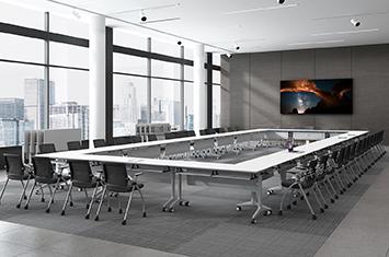 培训桌-培训桌摆放-培训会议桌-电脑桌滑轮-折叠培训桌