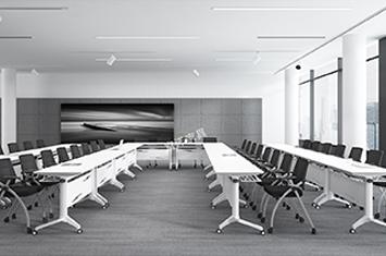折叠会议桌-智能办公桌-电脑桌滑轮-上海办公家具直销