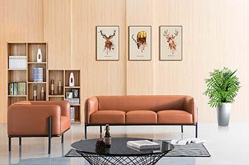 办公沙发-品牌沙发-皮沙发-办公室沙发摆放